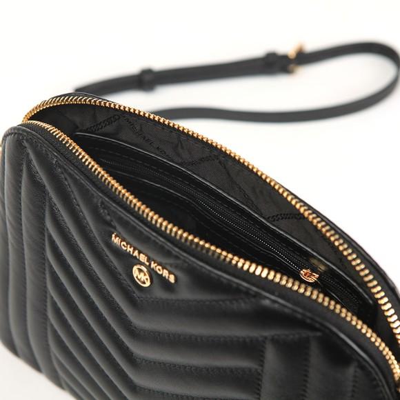 Michael Kors Womens Black Jet set  Charm Zip Dome Xbody Bag main image