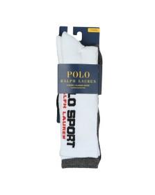 Polo Ralph Lauren Sport Mens White 3 Pack Sport Sock
