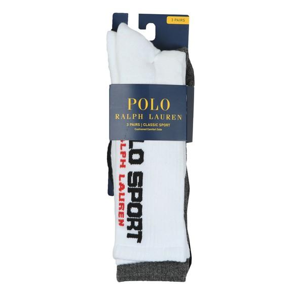 Polo Ralph Lauren Sport Mens White 3 Pack Sport Sock main image