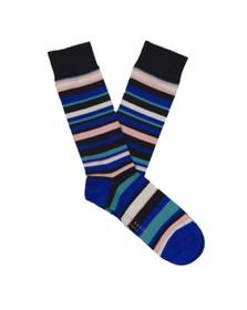 Ted Baker Mens Blue Multi Stripe Sock