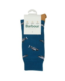 Barbour Lifestyle Mens Blue Fish Sock