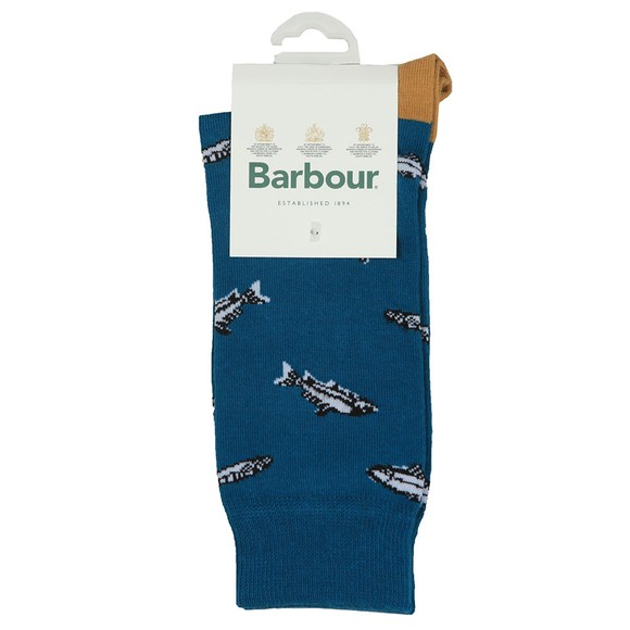 Barbour Lifestyle Mens Blue Fish Sock main image