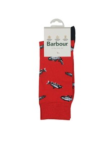 Barbour Lifestyle Mens Red Fish Sock