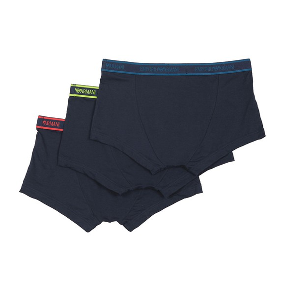 Emporio Armani Mens Blue 3 Pack Stretch Cotton Trunk main image