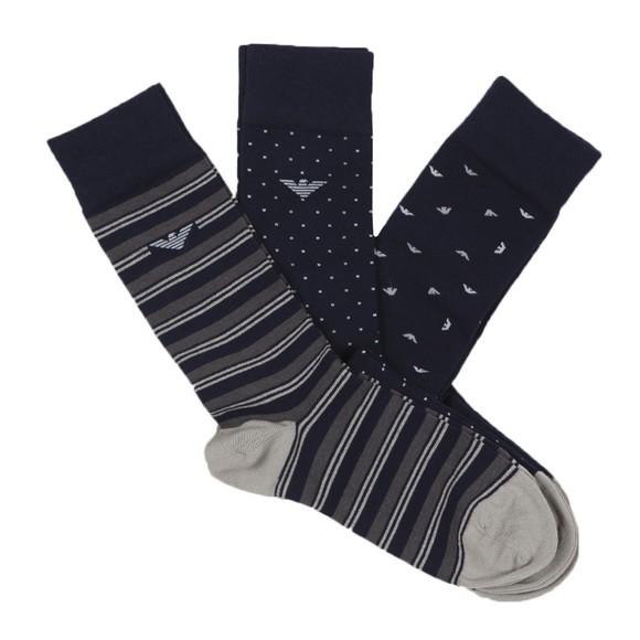 Emporio Armani Mens Blue 3 Pack Sock Box main image