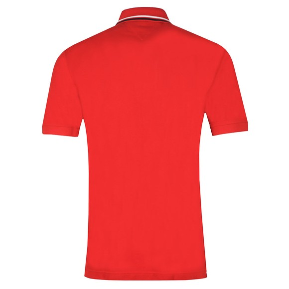 Tommy Hilfiger Mens Red Iconic Chest Stripe Polo main image