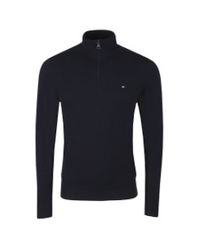 Tommy Hilfiger Mens Blue Luxury Touch Half Zip Jumper