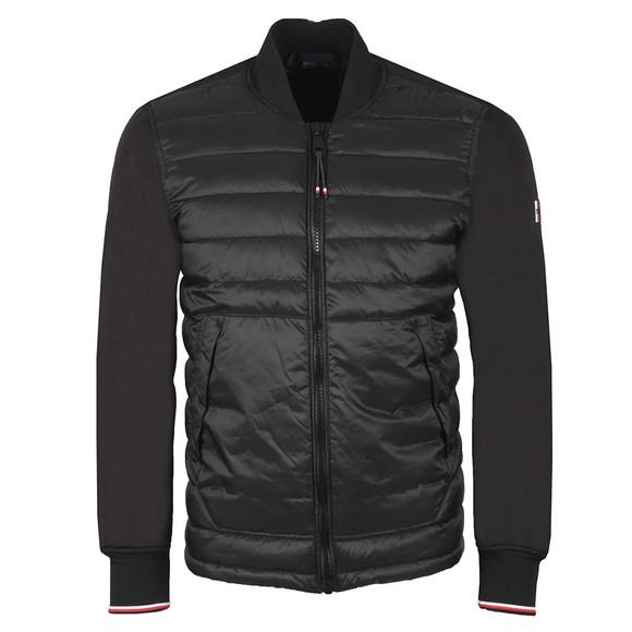 Tommy Hilfiger Mens Black Mix Media Bomber Jacket