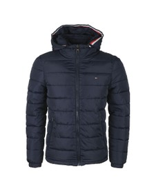 Tommy Hilfiger Mens Blue Quilted Hooded jacket