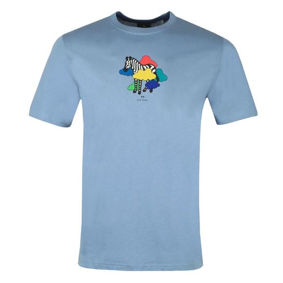 PS Paul Smith Mens Blue Cloud Zebra T-Shirt