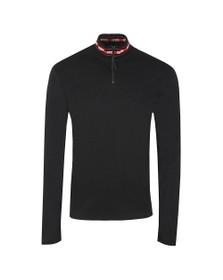 HUGO Mens Black Doder Half Zip Sweatshirt