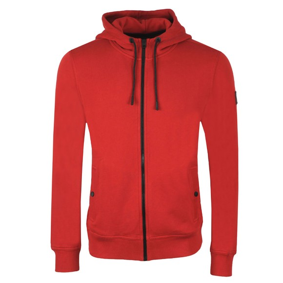 BOSS Mens Red Casual Zounds Hoody
