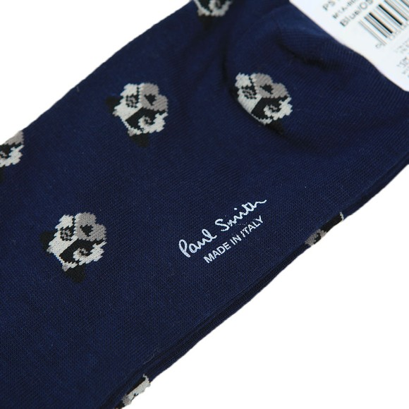 Paul Smith Mens Blue Doggo Print Sock