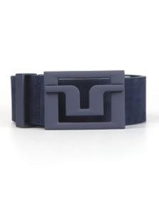 J.Lindeberg Mens Blue Slater 40 Brushed Leather Belt
