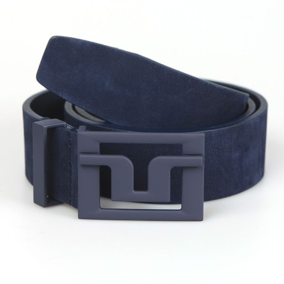 J.Lindeberg Mens Blue Slater 40 Brushed Leather Belt main image