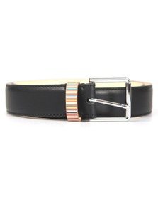 Paul Smith Mens Black Signature Stripe Belt