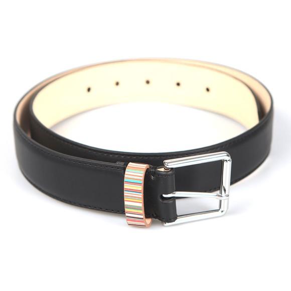 Paul Smith Mens Black Signature Stripe Belt