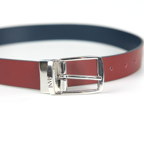 Emporio Armani Boys Blue Boys Reversible Leather Belt