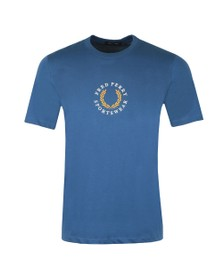 Fred Perry Sportswear Mens Blue Global Branded T-Shirt