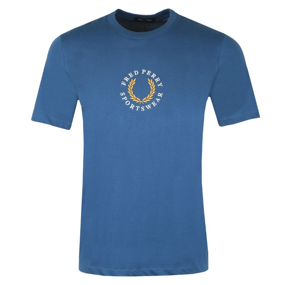 Fred Perry Sportswear Mens Blue Global Branded T-Shirt main image