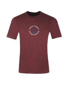 Fred Perry Sportswear Mens Brown Global Branded T-Shirt