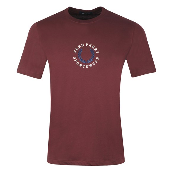 Fred Perry Sportswear Mens Brown Global Branded T-Shirt main image