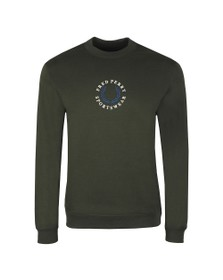 Fred Perry Sportswear Mens Green Embroidered Sweatshirt