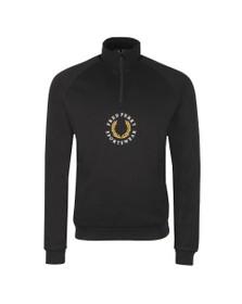 Fred Perry Sportswear Mens Black 1/2 Zip Sweatshirt