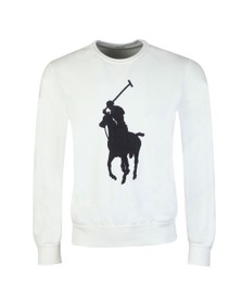 Polo Ralph Lauren Mens White Tonal Terry Sweatshirt