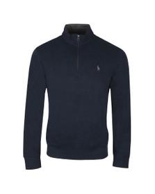 Polo Ralph Lauren Mens Blue Half Zip Thin Sweatshirt