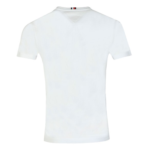 Tommy Hilfiger Mens White Logo Chest Stripe T-Shirt main image