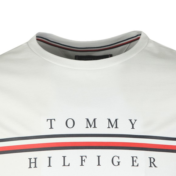 Tommy Hilfiger Mens White Corp Split T-Shirt main image