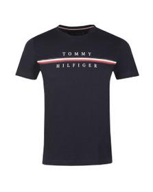 Tommy Hilfiger Mens Blue Corp Split T-Shirt