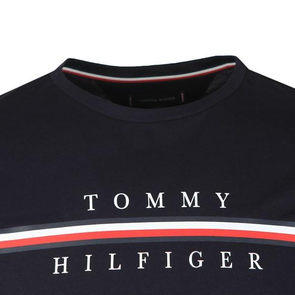 Tommy Hilfiger Mens Blue Corp Split T-Shirt main image