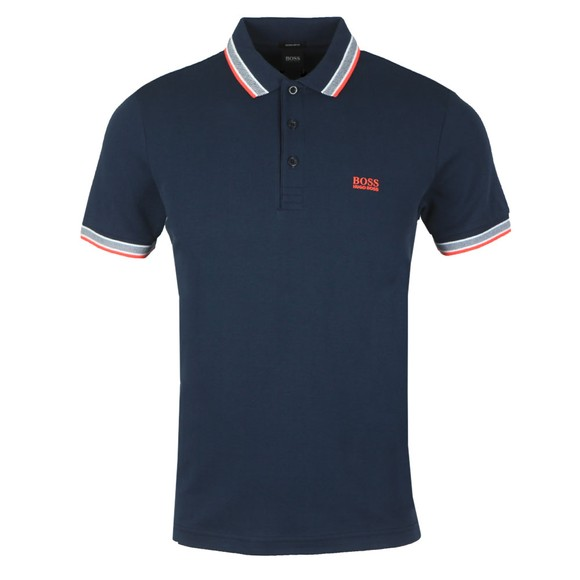 BOSS Mens Blue Athleisure Paddy Polo Shirt