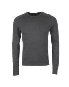 BOSS Mens Grey Kamiox Knitted Round Neck Jumper