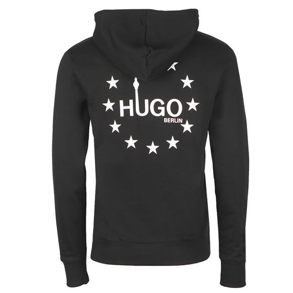 HUGO Mens Black Dippe Hoody main image