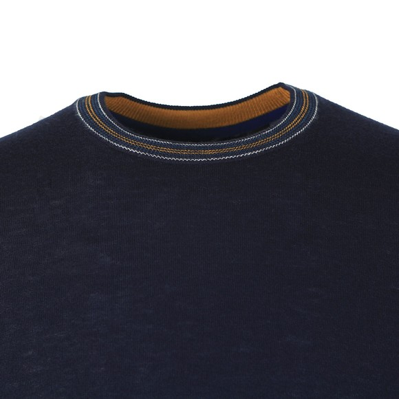 Ted Baker Mens Blue Mailais Crew Jumper