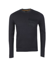 Ted Baker Mens Blue Saysay Crew Neck w/ Patch Pocket Jumper