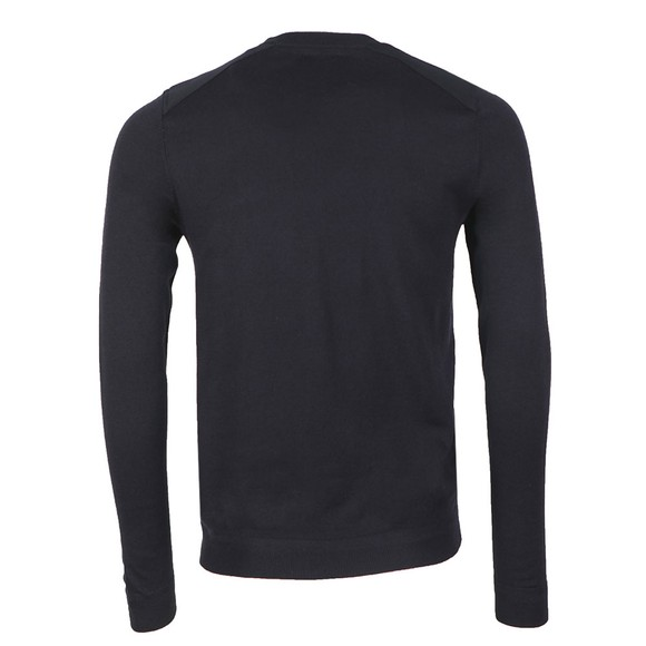 Ted Baker Mens Blue Saysay Crew Neck w/ Patch Pocket Jumper main image