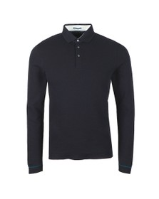 Ted Baker Mens Blue Terned LS Polo Shirt