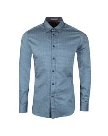 Ted Baker Mens Blue Geo Print Shirt