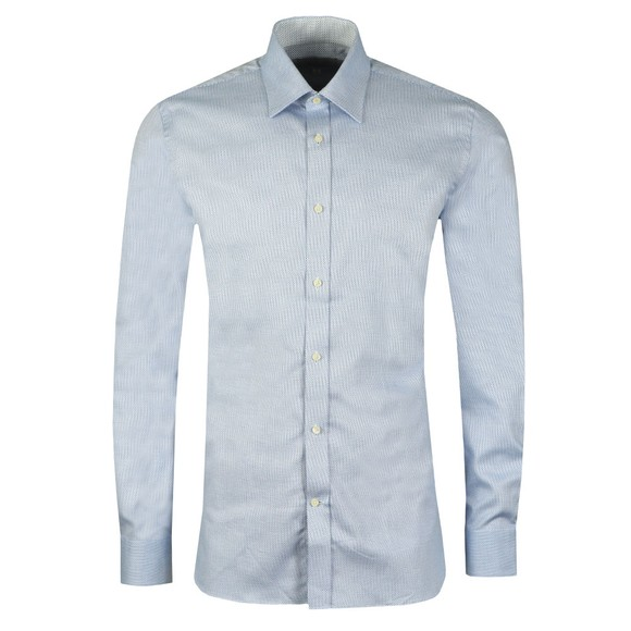 Ted Baker Mens Blue Catton Semi Plain Endurance Shirt