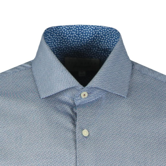 Ted Baker Mens Blue Romany Semi Plain Endurance Shirt