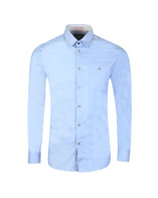 Ted Baker Mens Blue Branded Tape Shirt