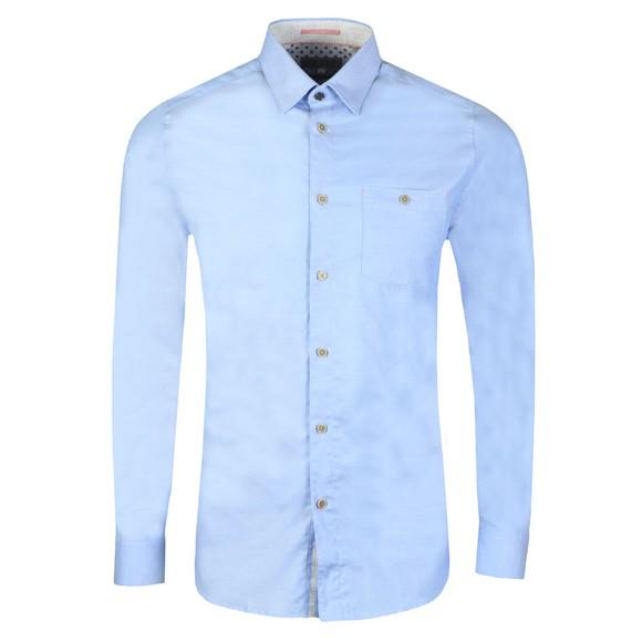 Ted Baker Mens Blue Branded Tape Shirt main image