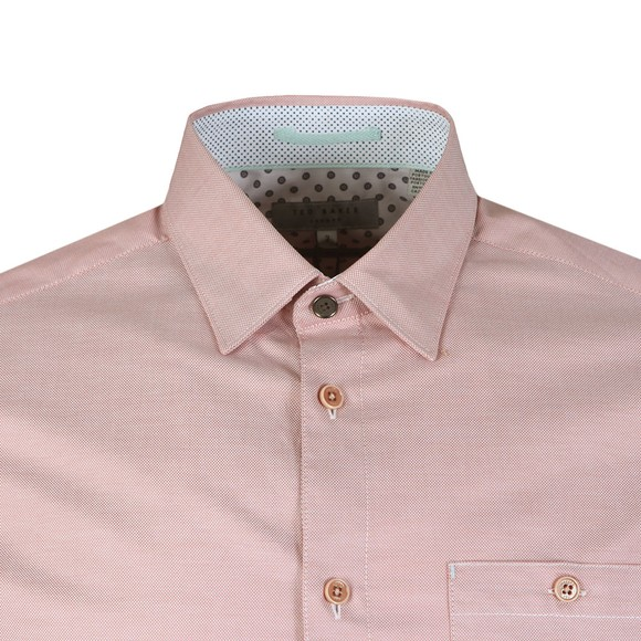 Ted Baker Mens Pink Branded Tape Shirt