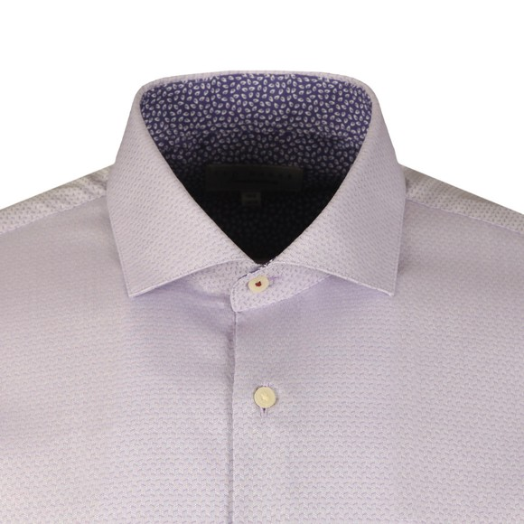 Ted Baker Mens Purple ROMNYST Semi Plain Endurance Shirt