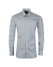Ted Baker Mens Blue Floral Geo Shirt