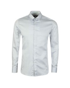 Ted Baker Mens White Geo Print Shirt